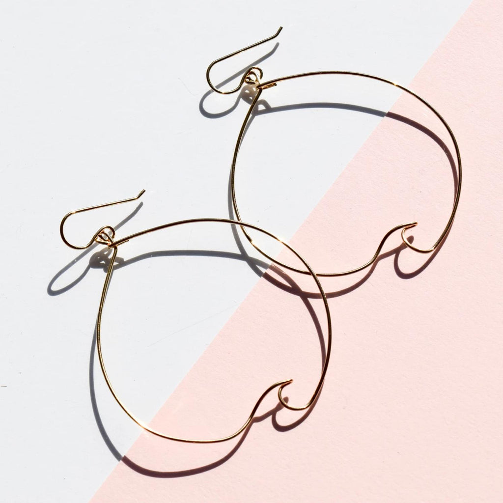 Zuma Wave Hoops - Delicora Jewelry