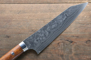 Takeshi Saji Coreless Diamond Finish Damascus Kiritsuke Gyuto Japanese Knife 180mm with Ironwood Handle - Japanny - Best Japanese Knife