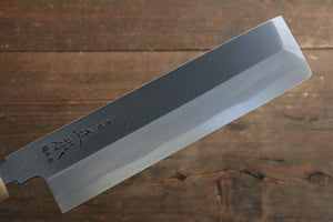 Masamoto Hongasumi White Steel No.2 Kakugata Usuba Japanese Knife 180mm with Magnolia Handle - Japanny - Best Japanese Knife
