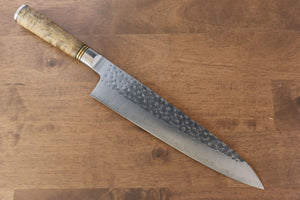 Takeshi Saji R2/SG2 Hammered(Maru) Gyuto Japanese Knife 240mm Chinese Quince Handle - Japanny - Best Japanese Knife