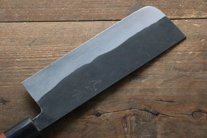 Ogata White Steel No.2  Kurouchi Damascus Nakiri Japanese Knife 165mm with Jura Handle - Japanny - Best Japanese Knife