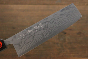 Shigeki Tanaka Blue Steel No.2  17 Layer Damascus Nakiri Japanese Chef Knife 165mm with Walnut Handle - Japanny - Best Japanese Knife