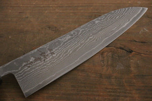 Shigeki Tanaka R2 Black Damascus Gyuto Japanese Chef Knife 180mm - Japanny - Best Japanese Knife
