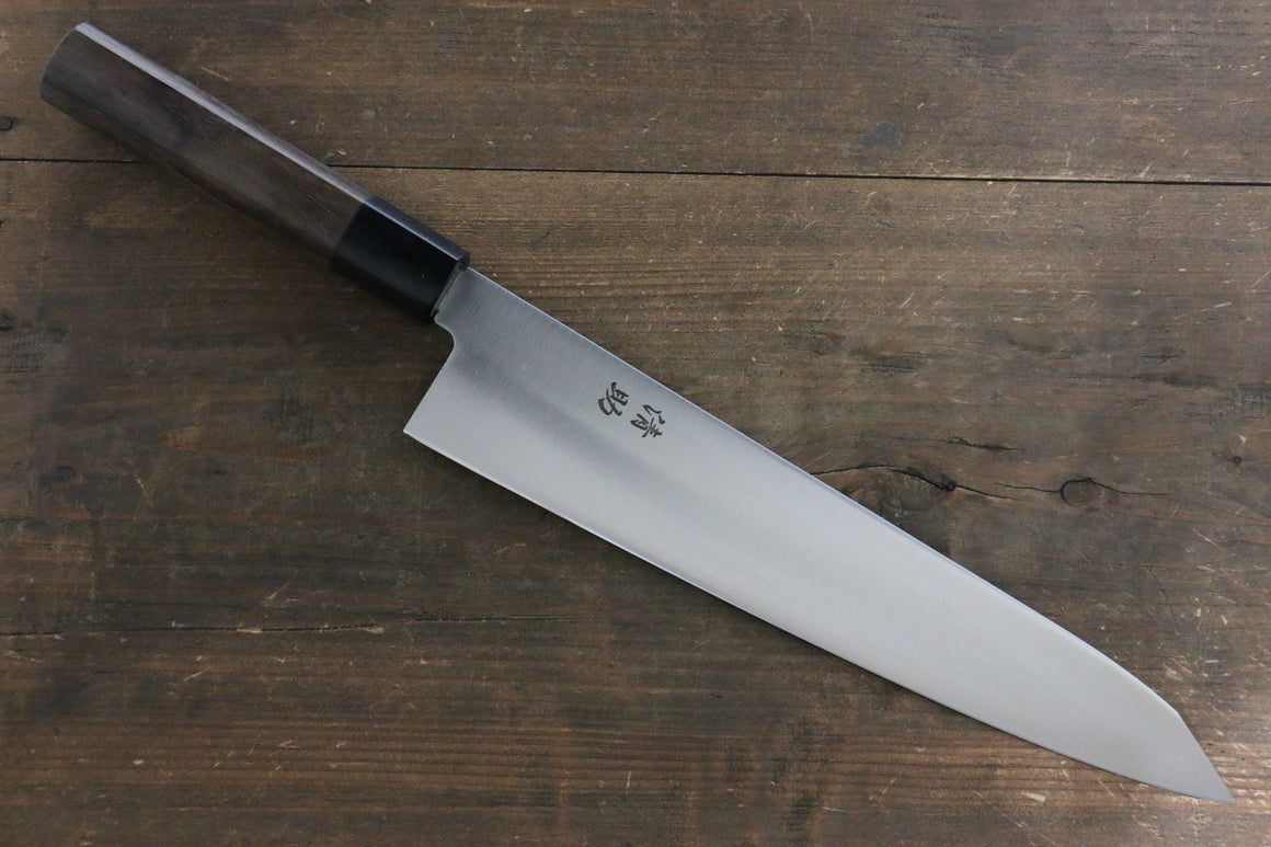 Seisuke Molybdenum Vanadium Kiritsuke Gyuto Japanese Chef Knife 270mm Shitan Handle - Japanny - Best Japanese Knife