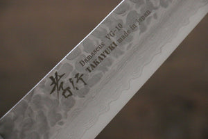 Sakai Takayuki 33 Layer Damascus VG10 Sujihiki Japanese Chef Knife 240mm with Desert Iron Wood - Japanny - Best Japanese Knife