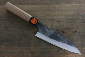 Shigeki Tanaka Blue Steel No.2 TEKKA Kurouchi Santoku Japanese Chef Knife 165mm - Japanny - Best Japanese Knife