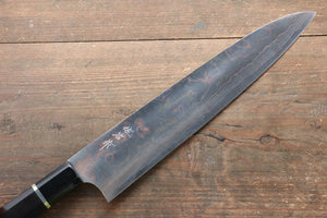 Takeshi Saji Blue Steel No.2 Colored Damascus Gyuto Japanese Knife 270mm with Ebony with Ring Handle - Japanny - Best Japanese Knife