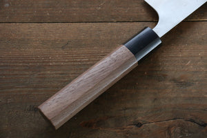 Yamamoto Silver Steel No.3 Nashiji Gyuto Japanese Chef Knife 180mm with Walnut Handle - Japanny - Best Japanese Knife