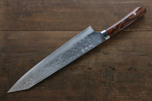 Takeshi Saji SRS13 Hammered Damascus Kiritsuke Japanese Chef Knife 270mm (Slender) with Iron Wood handle handle - Japanny - Best Japanese Knife