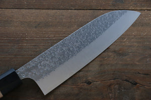 Yu Kurosaki R2/SG2 Hammered Santoku Japanese Chef Knife 165mm with Padoauk handle - Japanny - Best Japanese Knife