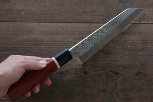 Yu Kurosaki R2/SG2 Hammered Bunka Japanese Chef Knife 165mm with Padoauk handle - Japanny - Best Japanese Knife