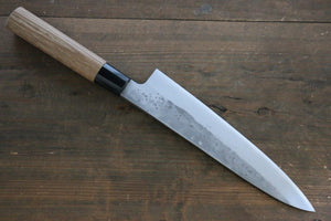 Seisuke Blue Steel No.2 Nashiji Gyuto Japanese Chef Knife 210mm with Carbonized Wood Handle - Japanny - Best Japanese Knife