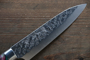 Yu Kurosaki R2/SG2 Hammered Petty Japanese Chef Knife 130mm with Green Marble handle - Japanny - Best Japanese Knife
