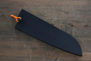 Black Saya Sheath for Santoku Knife with Plywood Pin 180mm Ⅱ - Japanny - Best Japanese Knife
