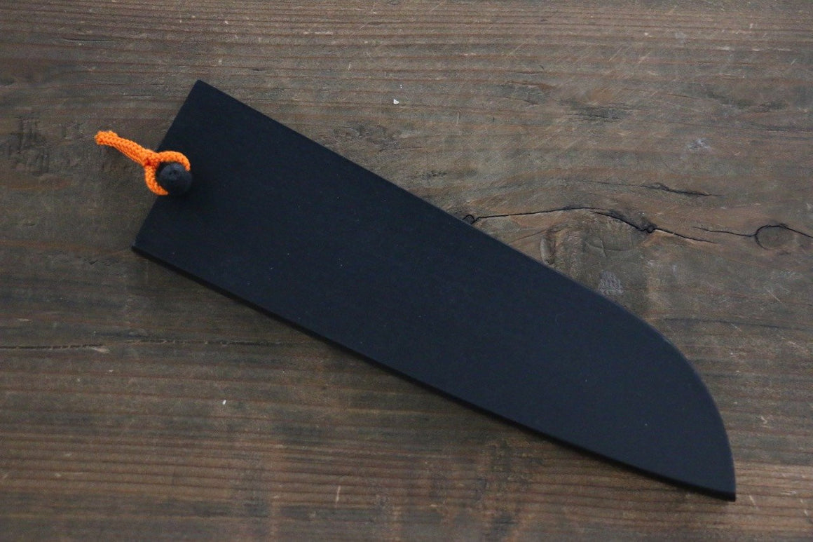 Black Saya Sheath for Santoku Knife with Plywood Pin 180mm Ⅲ - Japanny - Best Japanese Knife