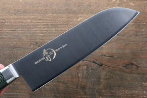 Sakai Takayuki Sakai Takayuki  Grand Chef Swedish Steel Santoku Japanese Knife 180mm with Green Micarta Handle - Japanny - Best Japanese Knife