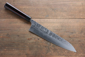 Yu Kurosaki Shizuku R2/SG2 Hammered Gyuto Japanese Knife 240mm with Lacquered Handle with Saya (Dragon) - Japanny - Best Japanese Knife