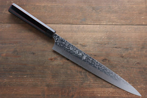 Yu Kurosaki Shizuku R2/SG2 Hammered Sujihiki Japanese Knife 270mm with Lacquered Handle - Japanny - Best Japanese Knife