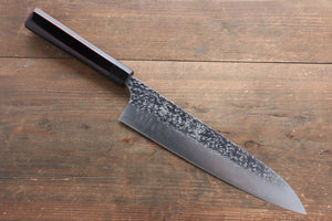 Yu Kurosaki Shizuku R2/SG2 Hammered Gyuto Japanese Knife 240mm with Lacquered Handle with Chinkin Saya (Hanabi) - Japanny - Best Japanese Knife