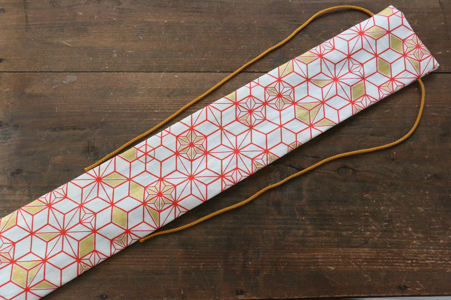 Japanese Style Knife Roll WhiteHexagon 1 Pocket - Japanny - Best Japanese Knife