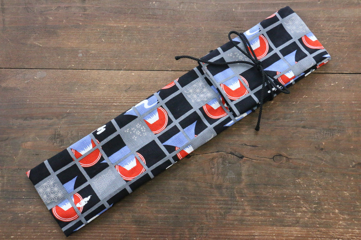 Japanese Style Knife Roll kurofuji 1 Pocket - Japanny - Best Japanese Knife
