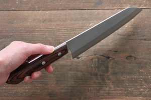 Kunihira VG1 Nashiji Santoku Japanese Knife 170mm with Mahogany Handle - Japanny - Best Japanese Knife