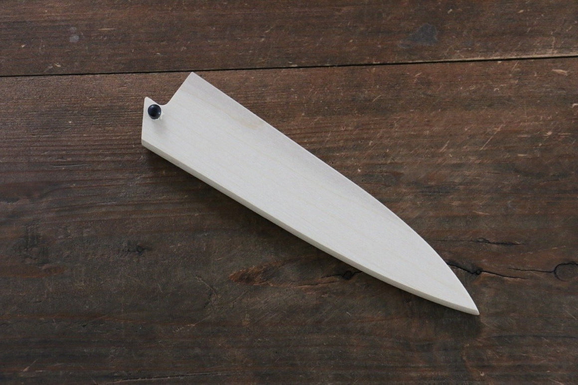 Magnolia Saya Sheath for Petty Chef's Knife with with Plywood Pin-135mm (Nashiji) - Japanny - Best Japanese Knife