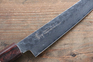 Sakai Takayuki VG10 33 Layer Damascus Petty Knife 150mm with Keyaki Handle(Japanese Elm) - Japanny - Best Japanese Knife