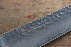 Sakai Takayuki VG10 33 Layer Damascus  Kengata Gyuto Japanese Chef Knife 190mm with Keyaki Handle(Japanese Elm) - Japanny - Best Japanese Knife