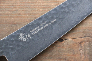 Sakai Takayuki VG10 33 Layer Damascus Gyuto Knife 210mm with Keyaki Handle(Japanese Elm) - Japanny - Best Japanese Knife