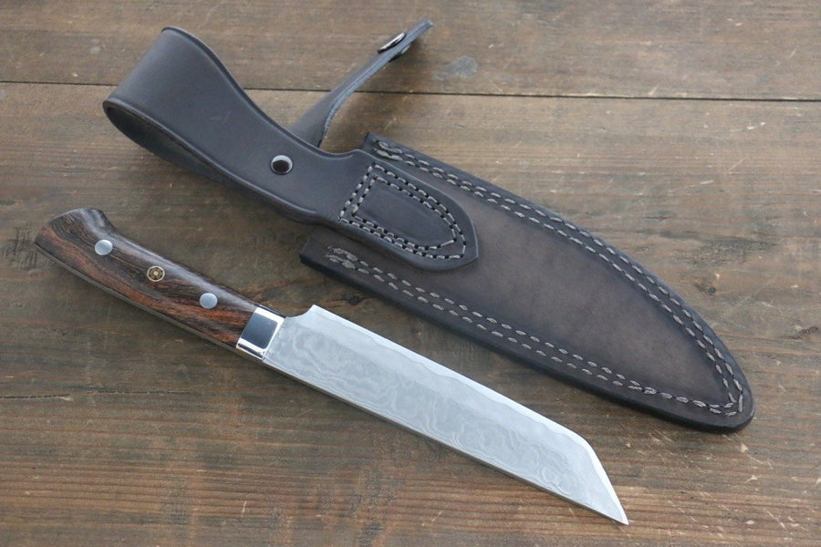 Takeshi Saji VG10 Damascus Pumpkin knife Japanese Chef Knife 150mm with Iron Wood handle