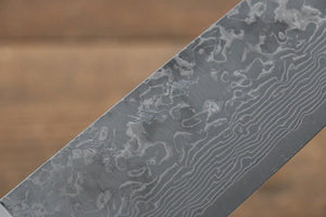 Yoshimi Kato VG10 Damascus Santoku Japanese Knife 165mm with Black Pakka wood Handle with Saya - Japanny - Best Japanese Knife