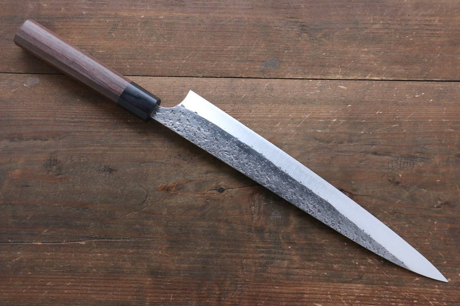Yu Kurosaki Blue Super Clad Hammered Kurouchi Sujihiki Japanese Chef Knife 270mm - Japanny - Best Japanese Knife
