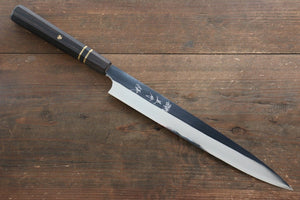 Yu Kurosaki Blue Steel No.2 Mirrored Finish Sujihiki Japanese Knife 270mm with Ebony Wood Handle - Japanny - Best Japanese Knife