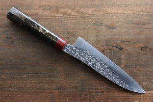 Yu Kurosaki Shizuku R2/SG2 Small Santoku Japanese Knife 155mm with Enji Lacquered Handle - Japanny - Best Japanese Knife