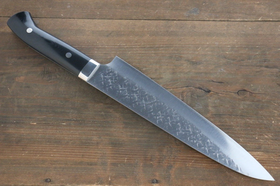 Takeshi Saji SRS13 Hammered Gyuto Japanese Chef Knife 240mm with Black Micarta handle - Japanny - Best Japanese Knife