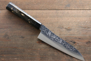 Yu Kurosaki Shizuku R2/SG2 Small Santoku Japanese Knife 155mm with Black Lacquered Handle - Japanny - Best Japanese Knife