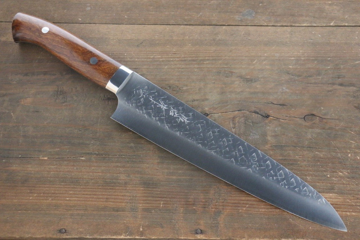 Takeshi Saji SRS13 Hammered Gyuto Japanese Chef Knife 240mm with Iron Wood handle - Japanny - Best Japanese Knife