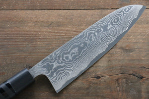 Takeshi Saji VG10 Black Damascus Santoku Japanese Knife 175mm with Cashew paint (Black) Handle - Japanny - Best Japanese Knife