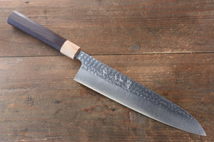 Yu Kurosaki Senko R2/SG2 Hammered Sujihiki Japanese Knife 270mm with Shitan Handle - Japanny - Best Japanese Knife
