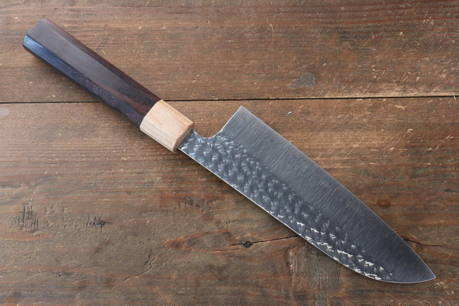 Yu Kurosaki Senko R2/SG2 Hammered Santoku Japanese Knife 165mm with Shitan Handle - Japanny - Best Japanese Knife