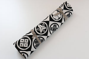 Japanese Style Knife Roll Kamon-Ura-Shirokamon 4 Pockets - Japanny - Best Japanese Knife