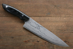 Kazuo Nomura White Steel No.2 Damascus Gyuto Japanese Knife 180mm with Micarta Handle - Japanny - Best Japanese Knife