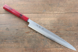 Sakai Takayuki Sakai Takayuki Nanairo INOX Molybdenum Yanagiba Japanese Knife 270mm with ABS resin(Red tortoiseshelll) Handle - Japanny - Best Japanese Knife
