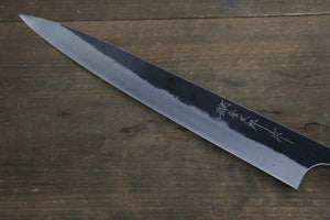 Yoshimi Kato Blue Super Clad Kurouchi Sujihiki Japanese Chef Knife 270mm Honduras Handle - Japanny - Best Japanese Knife