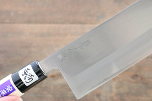 Kanetsune Blue Steel No.2 Migaki Finished Nakiri Japanese Knife 165mm with Magnolia Handle - Japanny - Best Japanese Knife