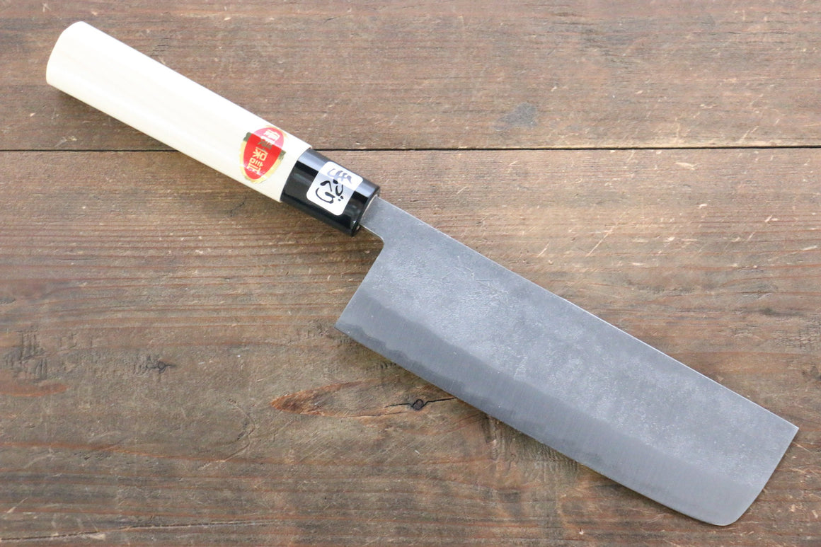 Kanetsune White Steel No.2  Nashiji Nakiri Japanese Knife 165mm with Magnolia Handle - Japanny - Best Japanese Knife