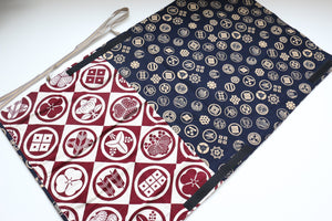 Japanese Style Knife Roll Redkamon-Ura-GoldKamon 4 Pockets - Japanny - Best Japanese Knife