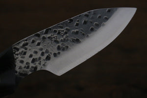 Takeshi Saji Blue Super Hunter knife 85mm with Black Micarta - Japanny - Best Japanese Knife