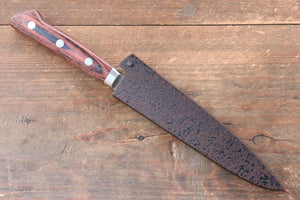 Seisuke VG10 33 Layer Damascus Petty-Utility Japanese Knife 135mm with Mahogany Handle with Saya - Japanny - Best Japanese Knife